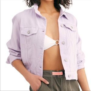 Free People • Rumors Lavender Paneled Denim Jacket